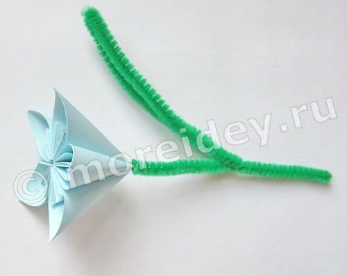цветы оригами для детей