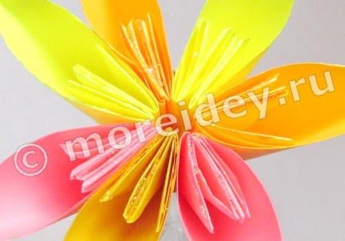 инструкция оригами цветок