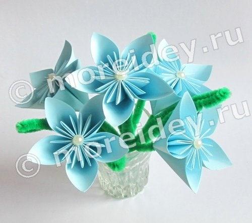 цветы из оригами своими руками
