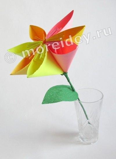 оригами цветы для начинающих