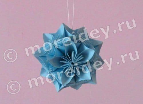 оригами шар кусудама