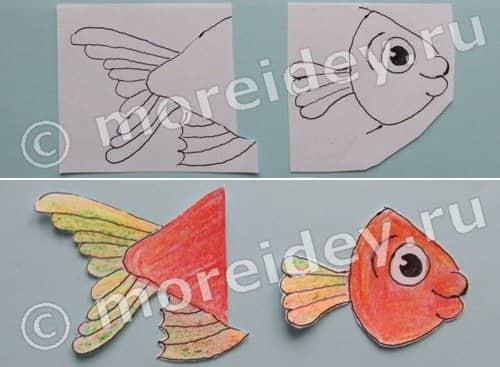 будет рисунок гармошка или поделка голодная рыбка спустя два месяца