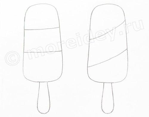 мороженое эскимо поделка из бумаги для детей море