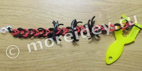 браслет паук из резиночек