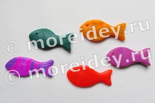 Рыбки из пластилина своими руками