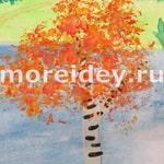 Осень - рисование мятой бумагой для малышей от 1.5 лет и детей постарше