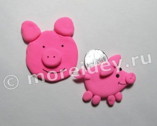 Свинки - магниты своими руками пошагово